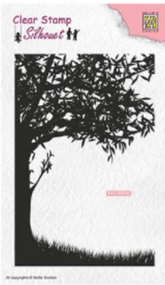 Nellie's Choice - Clear Stamp - Silhouette Scene With Tree