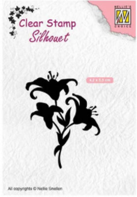 Nellie's Choice - Clear Stamp - Silhouette Lilies