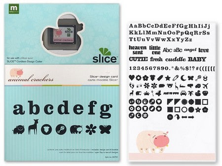 Making Memories - Slice Cartridge Design Card - Animal Crackers