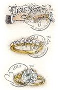 Magnolia Stamps - Special Moment Coll. - Ceremony Ring Kit