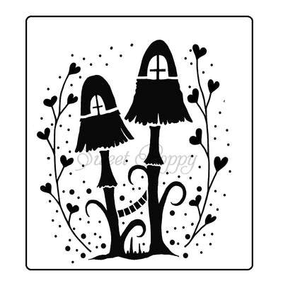 Sweet Poppy - Stencils - Fairy Mushrooms