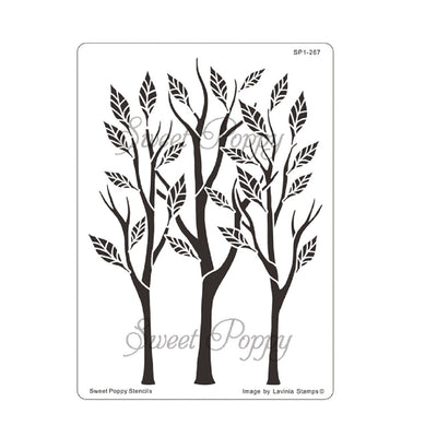 Sweet Poppy - Stencils - Tall Trees