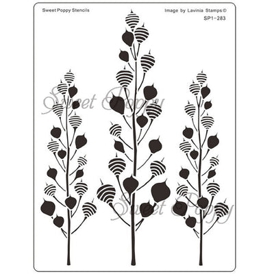 Sweet Poppy - Stencils - Seed Heads
