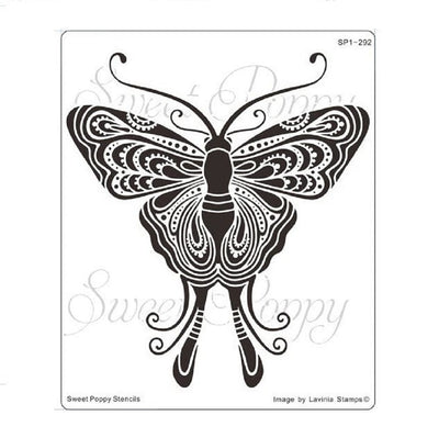 Sweet Poppy - Stencils - Indian Moth