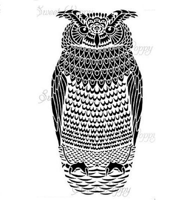 Sweet Poppy - Stencils - Large Owl