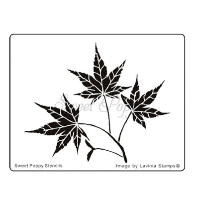Sweet Poppy - Stencils - Maple Leaf