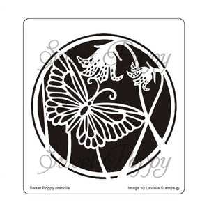 Sweet Poppy - Stencils - Wildflowers Butterfly