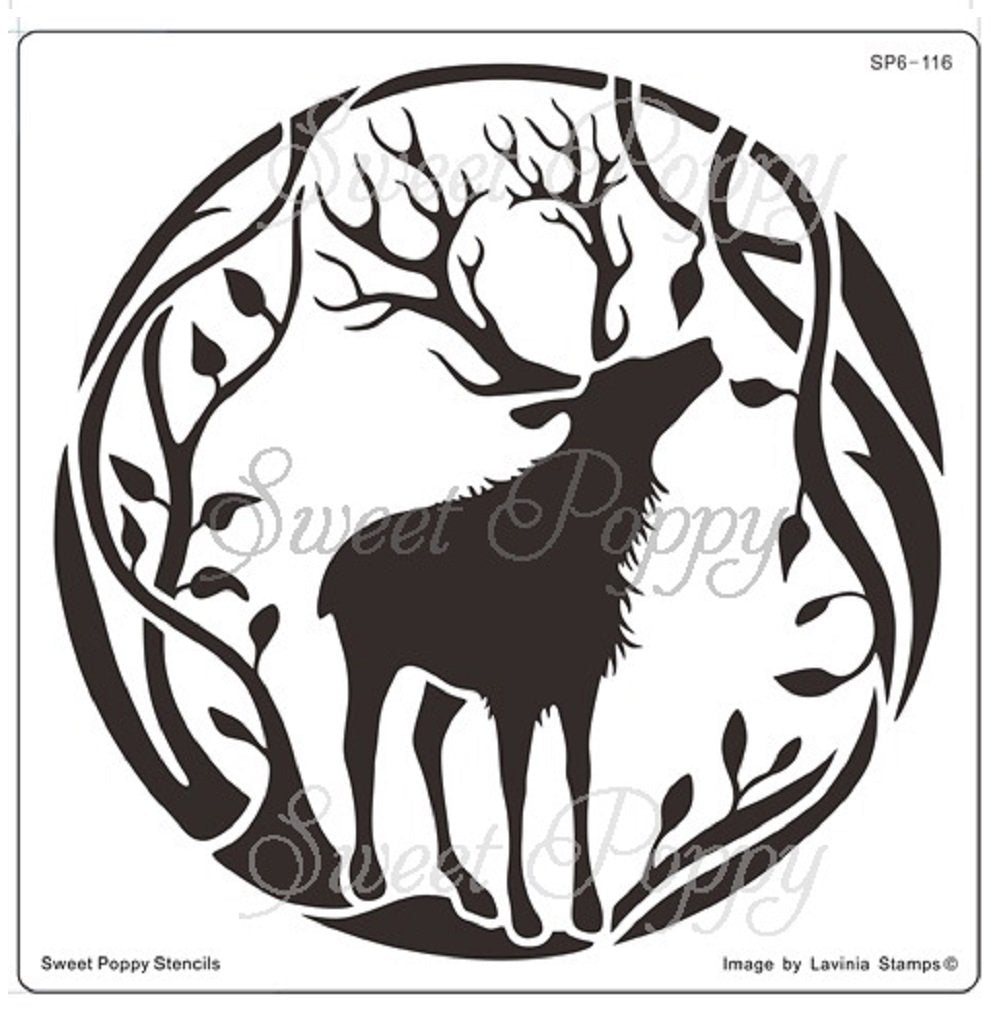 Sweet Poppy - Stencils - Winter Stag