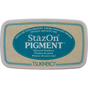 StazOn Pigment Ink Pad - Peacock Feathers