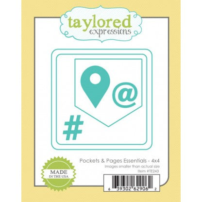 Taylored Expressions - Dies - Pockets & Pages Essentials 4 x 4
