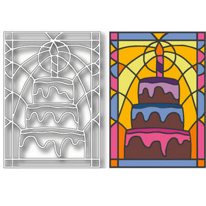 Tutti Designs - Dies - Cake Stained Glass