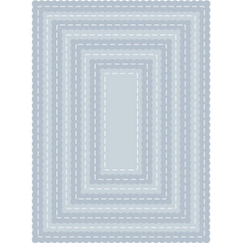 Tutti Designs - Scalloped Stitched Nesting Rectangles