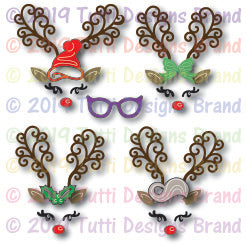 Tutti Designs - Dies - Build A Reindeer Face