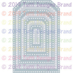 Tutti Designs - Dies - Cross Stitch Tags