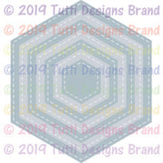 Tutti Designs - Dies - Stitched Hexagons