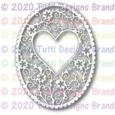 Tutti Designs - Dies - Oval Heart Frame