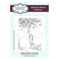 Creative Expressions Snowy Fir Tree A6 Pre Cut Rubber Stamp
