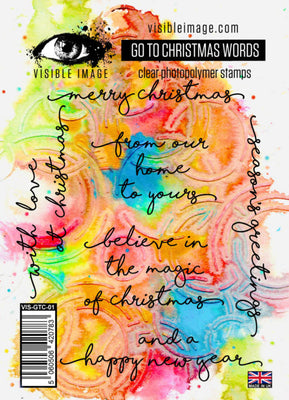 Visible Image - Stamps - Go To Christmas Words Set