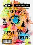 Visible Image - Stamps - Peace Love & Hope