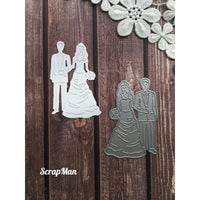 ScrapMan - Dies - Bride & Groom 1