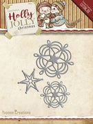 Yvonne Creations - Holly Jolly - Snowflake & Star