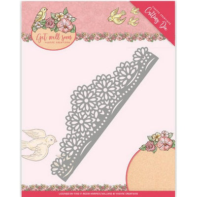 Yvonne Creations - Dies - Get Well Soon - Flower border