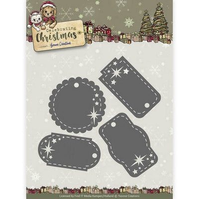 Yvonne Creations - Dies - Celebrating Chirstmas - Star Tags
