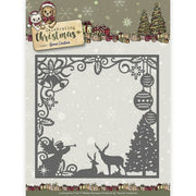 Yvonne Creations - Dies - Celebrating Chirstmas - Scene Square Frame