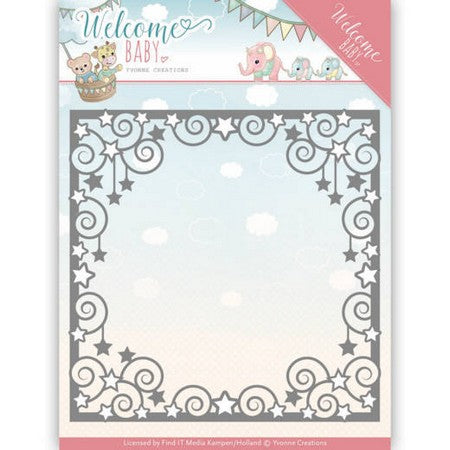 Yvonne Creations - Dies - Welcome Baby - Star Frame