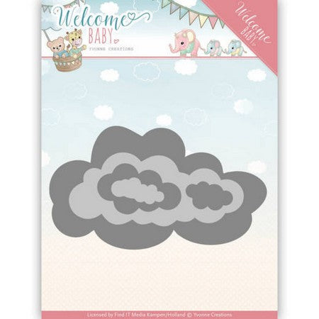 Yvonne Creations - Dies - Welcome Baby - Nesting Clouds