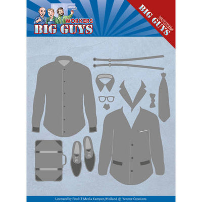 Yvonne Creations - Dies - Big Guys Workers - Dressed To Impress