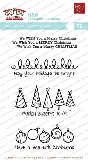 The Greeting Farm - Clear Stamps - Holiday Blessings (Ships Nov 18)