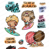 The Greeting Farm - Clear Stamps - Beach Day (Ships Nov 18)