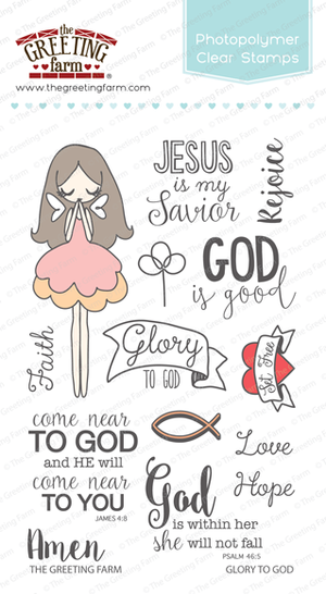 The Greeting Farm - Clear Stamps - Glory to God (Ships Nov 18)
