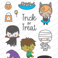 The Greeting Farm - Clear Stamps - Trick or Treat (Ships Nov 18)