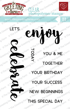 The Greeting Farm - Clear Stamps - Celebrate & Enjoy (Ships Nov 18)