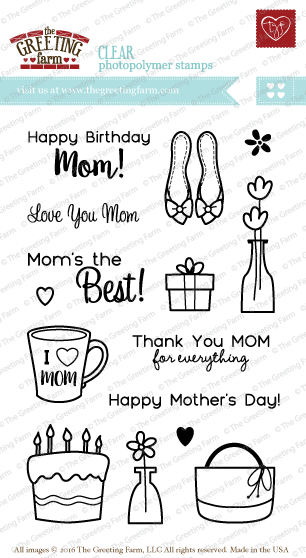 The Greeting Farm - Clear Stamps - I LOVE MOM (Ships Nov 18)