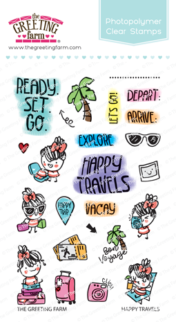 The Greeting Farm - Clear Stamps - Happy Travels (Ships Nov 18)