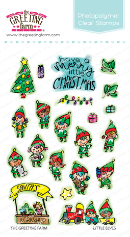 The Greeting Farm - Clear Stamps - Little Elves (Ships Nov 18)