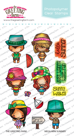 The Greeting Farm - Clear Stamps - Mega-Mini Summer (Ships Nov 18)