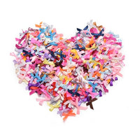 Assorted Mini Satin Ribbon Bows - 25pcs