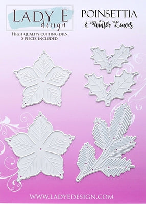 Lady E Design - Dies - Poinsettia & Winter Leaves