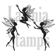 LAV136A - Lavinia Stamp - Three Dancing Fairies