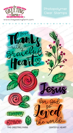 The Greeting Farm - Clear Stamps - Grateful Heart (Ships Nov 18)