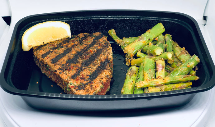 Grilled Ahi Tuna with Lemon Pepper Asparagus - Lake Charles, Louisiana Meal Prep