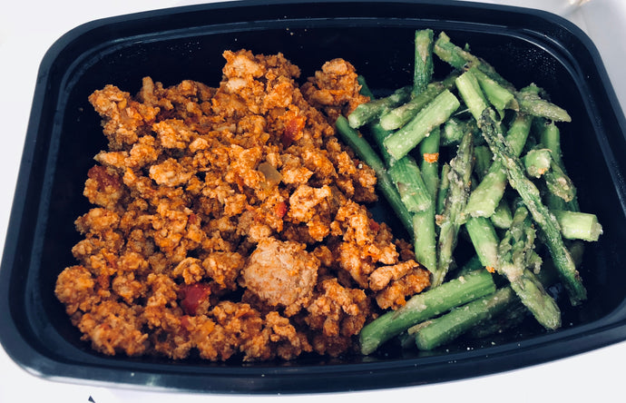 Lean Ground Turkey w/ Asparagus - Lake Charles, Louisiana Meal Prep