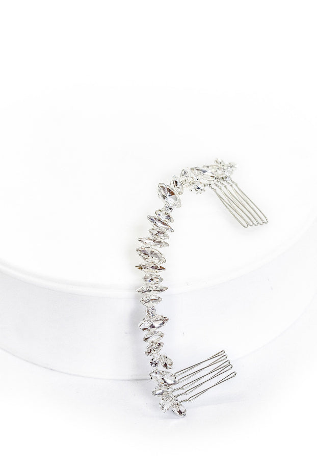 Our halo combs are the perfect bridal hair accessories for your wedding day.