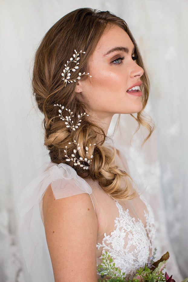 Kassia Pin Set of 3 - Bridal Hair Accessories