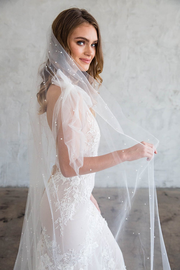EVONY CHAPEL VEIL - WITH SCATTERED PEARLS