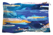 Blue flat scarf designed by the artist Nina Zulian